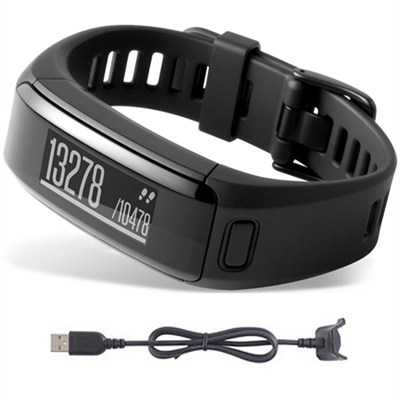 vivosmart HR Activity Tracker X-Large Fit Black Charging Cable Bundle