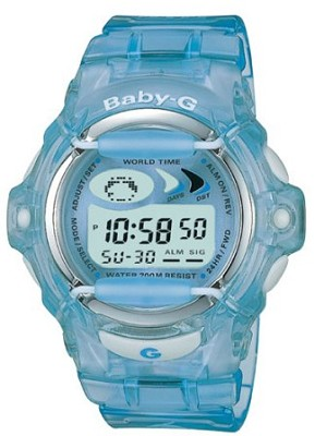 BG169-2V - Baby-G Blue Jelly Shock Resistant Sport Watch