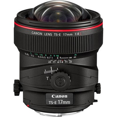 TS-E 17mm f/4L Ultra-Wide Tilt-Shift Manual Focus Lens