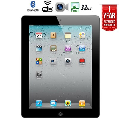 iPad 2 Tablet 2nd Gen (32GB, Wifi, Black) + Extended Warranty  - Refurbished
