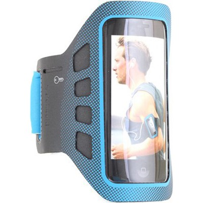 Sports Soft Shell ArmBand for Smartphones in Blue