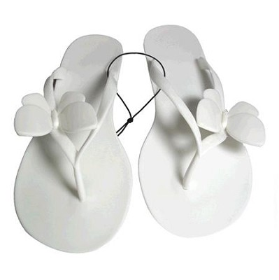 Jelly Sandals White Size Medium (7/8)