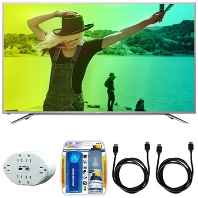 Aquos N7000 65` Class 4K Ultra WiFi Smart LED HDTV w/ Hook up Bundle