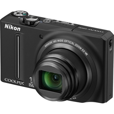 COOLPIX S9100 12MP Black Digital Camera w/ 18x Optical Zoom