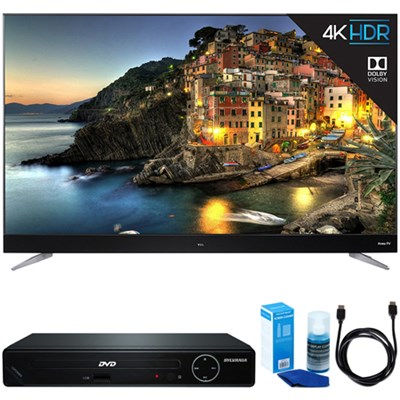 65-Inch 4K UHD Dolby Vision HDR Roku Smart LED TV w/ HDMI DVD Player Bundle