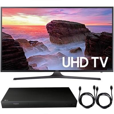 UN65MU6300FXZA 65` 4K HDR UHD Smart LED TV 2017 + Blu-Ray Player Bundle