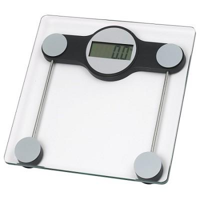Hi-Tempered Glass Digital Bathroom Scale 3` LCD Display