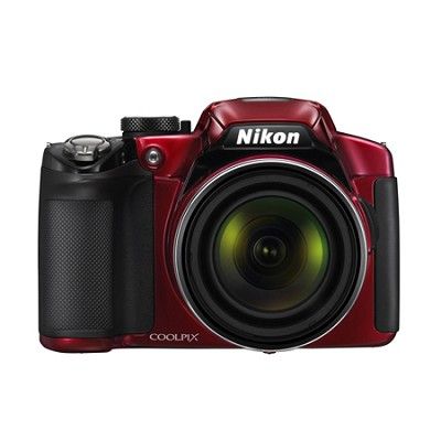 COOLPIX P510 16.1MP 42x Opt Zoom 3.0 LCD Digital Camera - Red