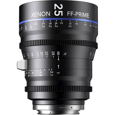 25MM Xenon Full Frame 4K Prime XN 2.1 / 25 Feet Lens for PL Mounts
