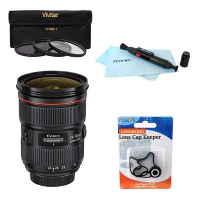 EF 24-70mm f/2.8L II USM w/ UV 82MM Lens Filter Bundle