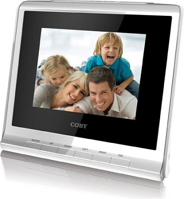 3.5` (4:3) Digital Photo Frame with Alarm Clock(White)