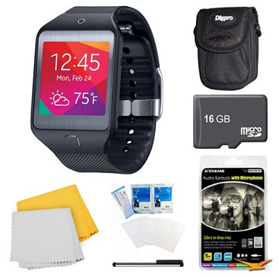 Gear 2 Neo Black Watch, Case, and 16GB Card Bundle