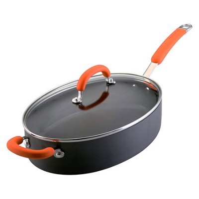 Hard-Anodized Cookware 5 Quart Oval Saute w/ Helper Handle