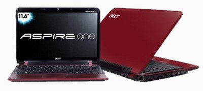 Aspire one 11.6` Netbook PC - Red (AO751H-1259)
