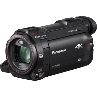 HC-WXF991K 4K Ultra HD Camcorder w/ Wi-Fi Multi Scene Twin Camera Blk - OPEN BOX
