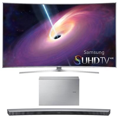 UN65JS9500 - 65-Inch Curved 4K 120hz SUHD 3D LED TV w/ HW-J7501 Soundbar Bundle
