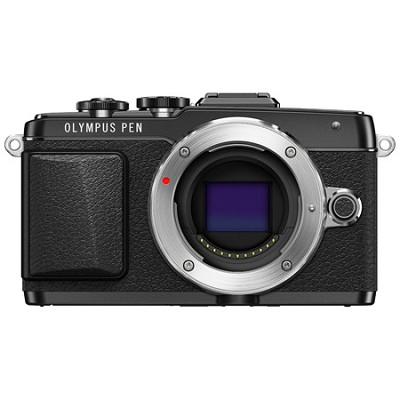 PEN E-PL7 16MP Mirrorless Micro Four Thirds Digital Camera - Black