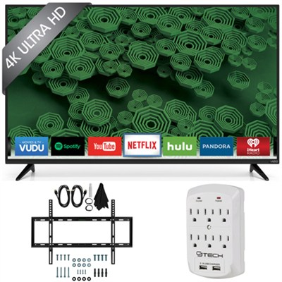 D55u-D1 D-Series - 55-Inch 120Hz 4K Ultra HD LED Smart HDTV Wall Mount Bundle