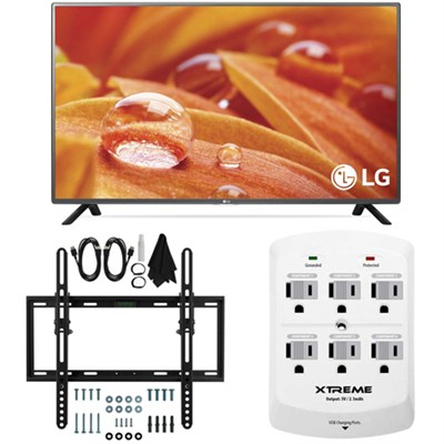 32LF595B - 32-Inch 720p LED HD Smart TV w/ webOS 2.0 Flat/Tilt Wall Mount Bundle