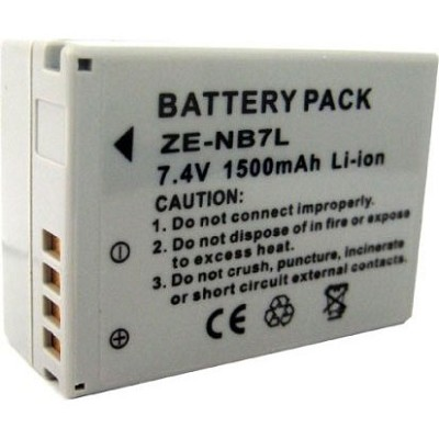 BP-7L 1500mah Battery Pack F/ Powershot G10, G11, G12 and SX30 (NB-7L)