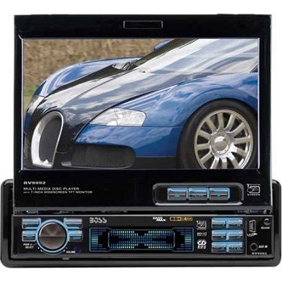 In-Dash 7` DVD/MP3/CD Widescreen Receiver with USB, SD Card, and Front Panel AUX