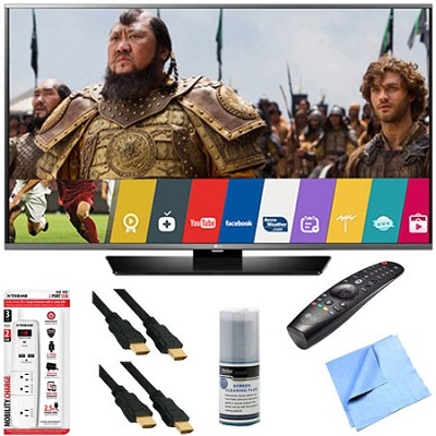 65LF6300 - 65-Inch 1080p 120Hz LED Smart HD TV w/ Magic Remote & Hook-Up Bundle