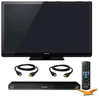 TC-P55ST30 55` VIERA 3D FULL HD (1080p) Plasma TV Bundle with BDT110 Blu Ray