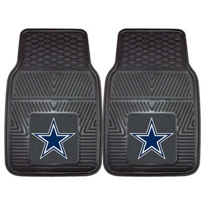 NFL Dallas Cowboys Vinyl Heavy Duty Car Mat - Set of Two