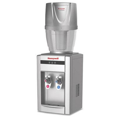 21` Tabletop Water Cooler Dispenser with 4 Gallon Filtration System, Silver