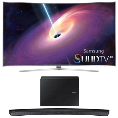 UN55JS9000 Curved 55` 2160p 3D 4K SUHD LED TV HW-J6000 Soundbar Bundle