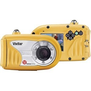 ViviCam 8400 8.1 MP 2.4-Inch TFT LCD Screen Underwater Digital Camera  (Yellow)