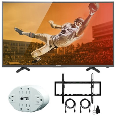 Aquos N3000 Full HD 40` Class 1080p 60Hz LED TV 40N3000U with Mount Bundle