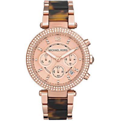 Parker Tortoise Acetate Women's Watch - MK5538