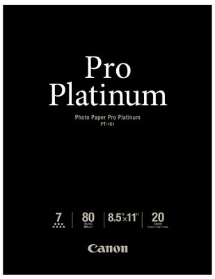 Photo Paper Pro Platinum 8.5` X 11` - 20 Sheets