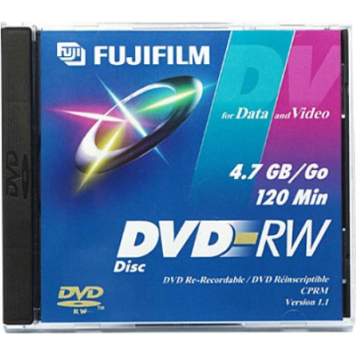 DVD-RW Disc for Video and Data - 120 Minutes/4.7 GB