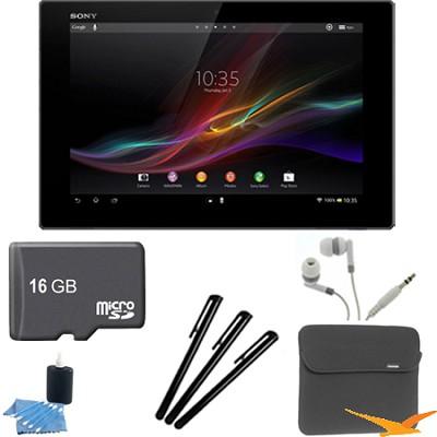Xperia Black 10.1` 16GB Tablet Z 16GB Memory Card Bundle