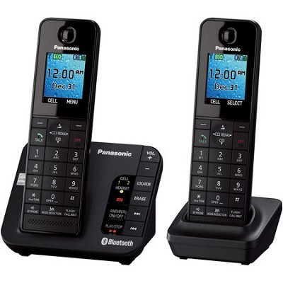 KX-TGH262B DECT 6.0 1.90 GHz Cordless Phone - Black