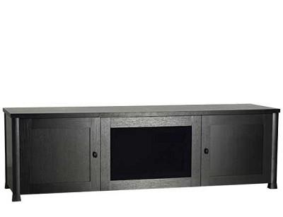CFV69 - Lowboy 3-Shelf Cabinet for AV Equipment & TVs up to 75` (Espresso/Black)