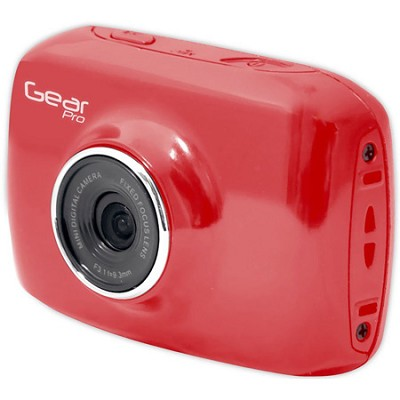 High-Definition Action Camera, 720p Wide-Angle Camcorder With 2.0 Screen- Red
