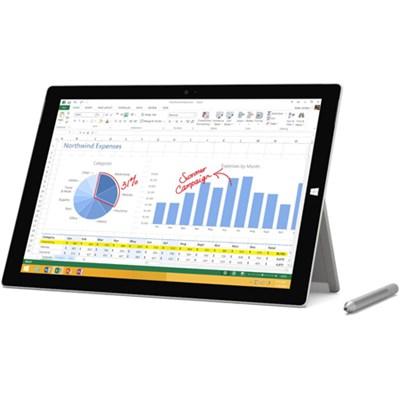 Surface Pro 3 intel Core i5-4300U 128GB 12 Inch Tablet Computer - OPEN BOX
