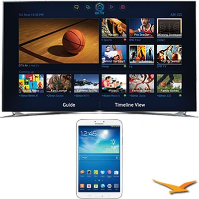 UN55F8000 - 55` 1080p 240hz 3D Smart Wifi LED HDTV - 8-Inch Galaxy Tab 3 Bundle