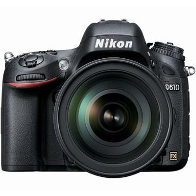D610 FX-format 24.3 MP 1080p video Digital SLR Camera with 28-300mm Lens