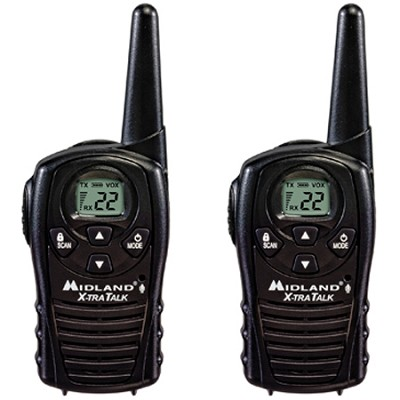 22-Channel GMRS with 18 Mile Range, E Vox, and Channel Scan (Pair) - LXT118