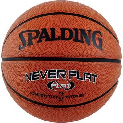 Never Flat Outdoor Intermediate Size Basketball 28.5`