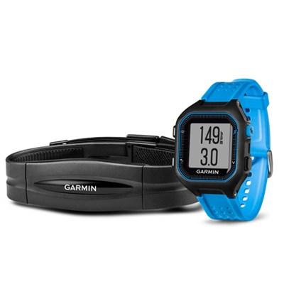Forerunner 25 GPS Fitness Watch with Heart Rate Monitor - Large - Black/Blue