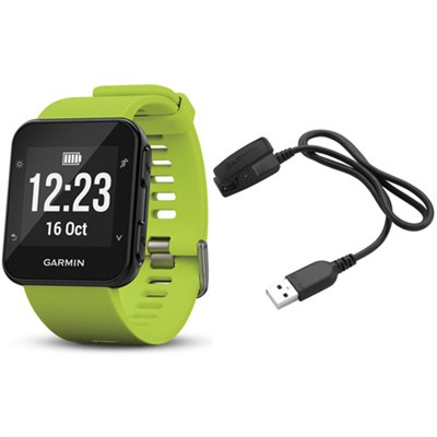 Forerunner 35 GPS Running Watch & Activity Tracker Charging Clip Bundle - Lime