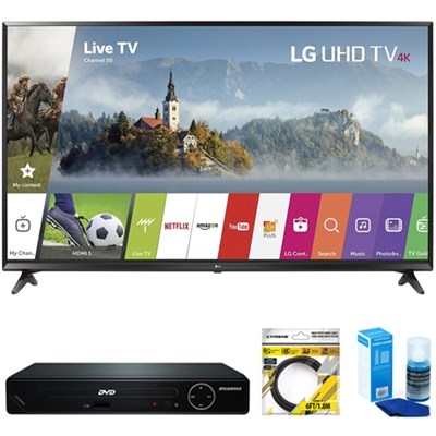 43` UHD 4K HDR Smart LED TV 2017 Model + DVD Player Bundles