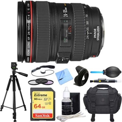 EF 24-105mm f/4 L IS USM Lens Deluxe Accessory Bundle