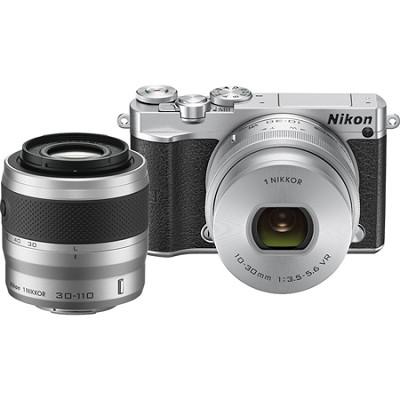 1 J5 Digital Camera w/ NIKKOR 10-30mm Zoom Lens & NIKKOR 30-110mm Lens - Silver