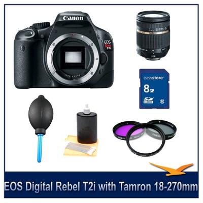 EOS Digital Rebel T2i with Tamron 18-270mm PZD Lens Bundle Deal